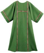Green Deacon Dalmatic Tapestry Piping