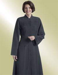 ladies black clergy church dress
