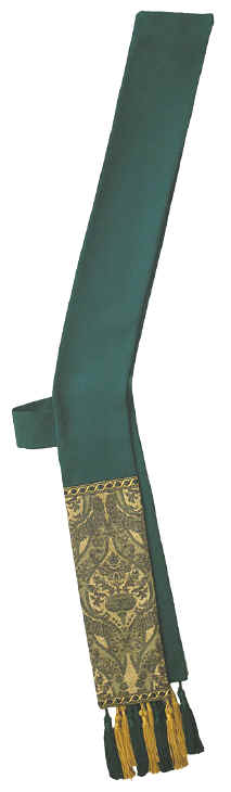 Hunter Green Tapestry Deacon Stole