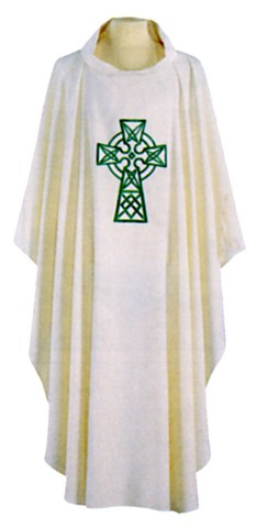 Irish Celtic Cross Clergy Chasuble Vestments