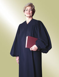 ladies black clergy preaching robe