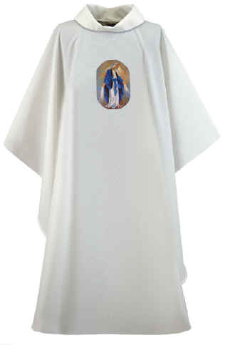 Our Lady of Grace Clergy Chasuble Vestment