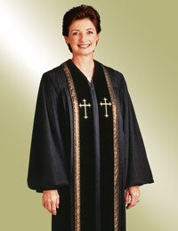 Ladies Black Clergy Robes