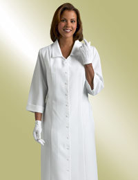 ladies white clergy church dress