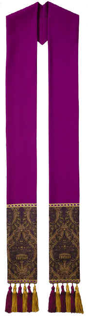 Purple Clergy Overlay Stole Tapestry