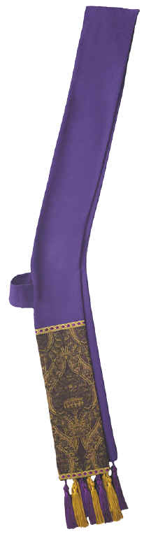 Purple Tapestry Deacon Stole