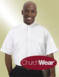 mens white short sleeve tab collar shirt