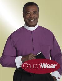 mens purple long sleeve full collar shirt with cuffs