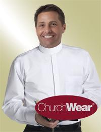 mens long sleeve clergy shirt white full collar