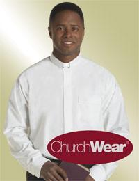 mens white long sleeve tab collar shirt