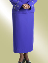 ladies purple clergy church skirt