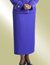 ladies purple clergy church skirt