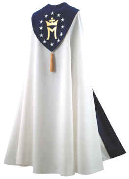 White with Mary Queen of Universe Bishop Clergy Cope