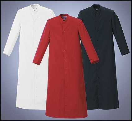 altar server cassocks white, black, red
