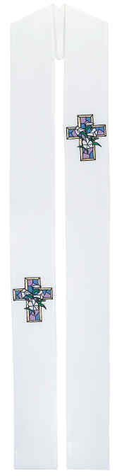 easter cross clergy overlay stole
