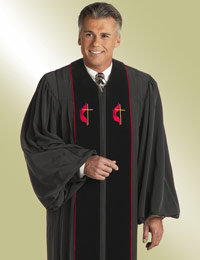 mens black methodist pulpit preaching robe