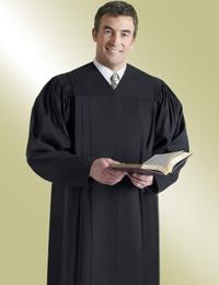 mens black preaching robe