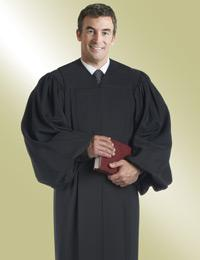 mens black pulpit robe