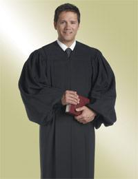 mens black pulpit robe preaching