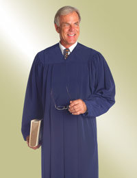 mens blue pulpit preaching robe