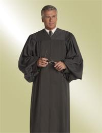 mens traditional black pulpit robe preaching