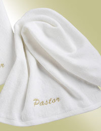 pastor white church towel