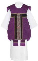 purple tapestry Fiddle Back Chasuble