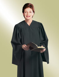 womens black pulpit preaching robe